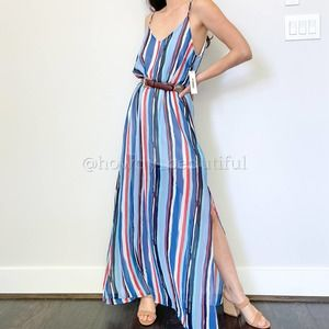 Red Dress Aura Maxi Dress In Changing Tides